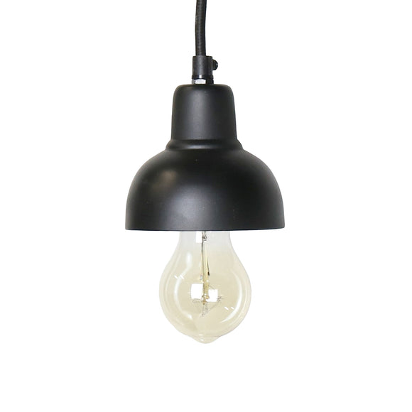 2490-2 - Webster Petite Metal Pendant - Black by HomArt