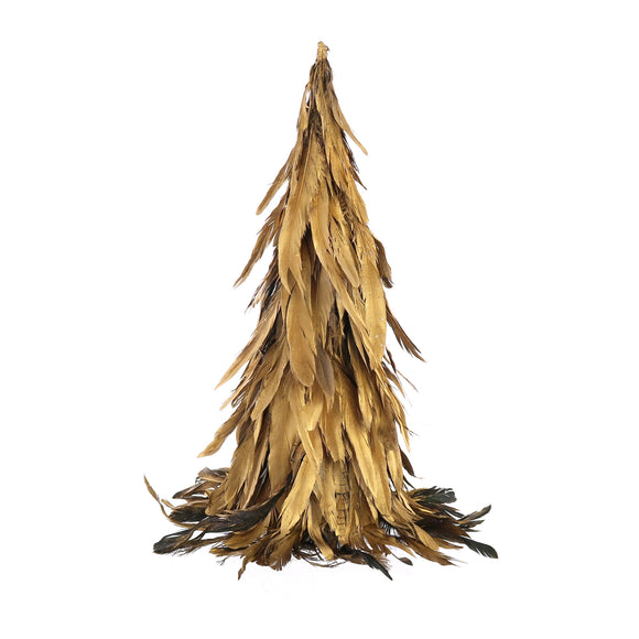 30054-48 - Feather Tree -  Small - Gold Luster by HomArt