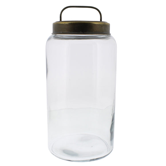50013-54 - Archer Canister with Metal Lid - Large by HomArt