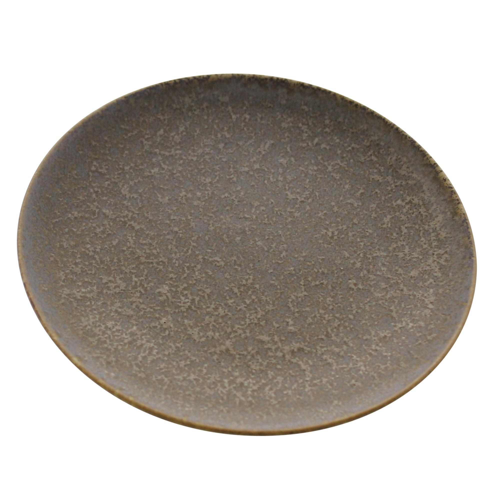 7138-0 - Tiburon Plate - Ceramic - Light Grey Glaze by HomArt