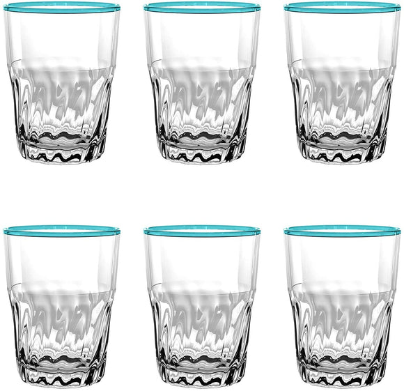PCNDF150DPA - Rio - Set of 6 - Melamine Catina Wine Glass - Aqua - 15 oz by TarHong