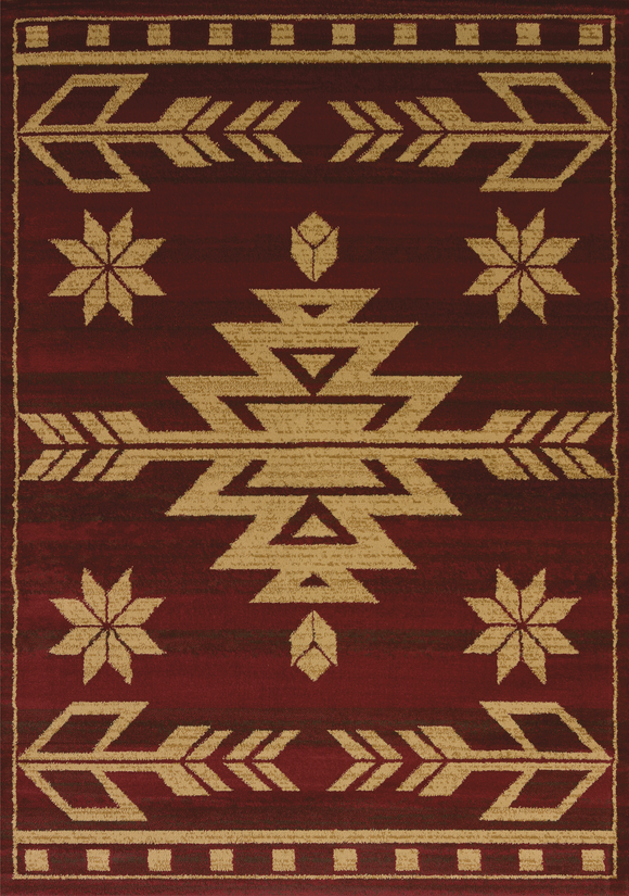 Affinity - Teton Red - Western Rug by United Weavers - ThunderHorseCabin.com