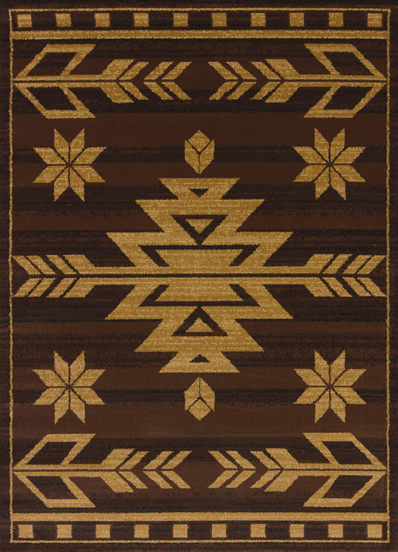 Affinity - Teton Brown Western Rug - by United Weavers - ThunderHorseCabin.com