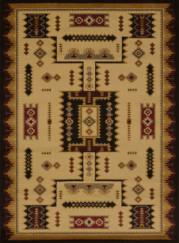 Affinity - Coltan Ivory Western Rug- by United Weavers - ThunderHorseCabin.com