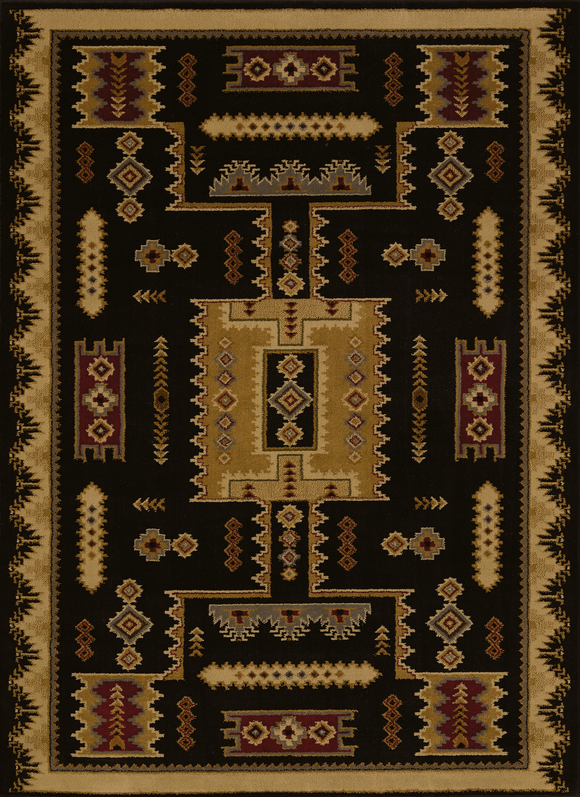 Affinity - Coltan Black Western Rug - by United Weavers - ThunderHorseCabin.com