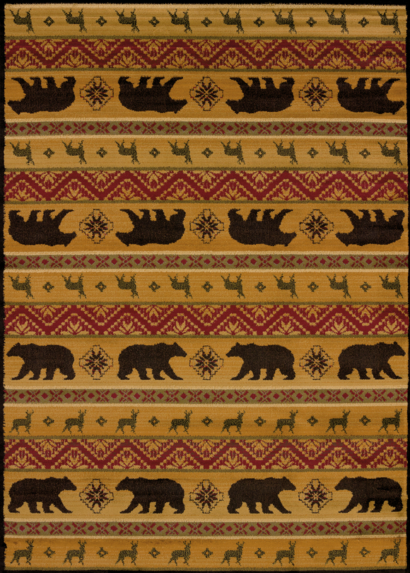 Affinity - Nordic Bear Spice Lodge Rug - by United Weavers - ThunderHorseCabin.com