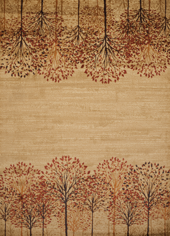 Affinity - Timber Blossom Natural  Lodge Rug - by United Weavers - ThunderHorseCabin.com