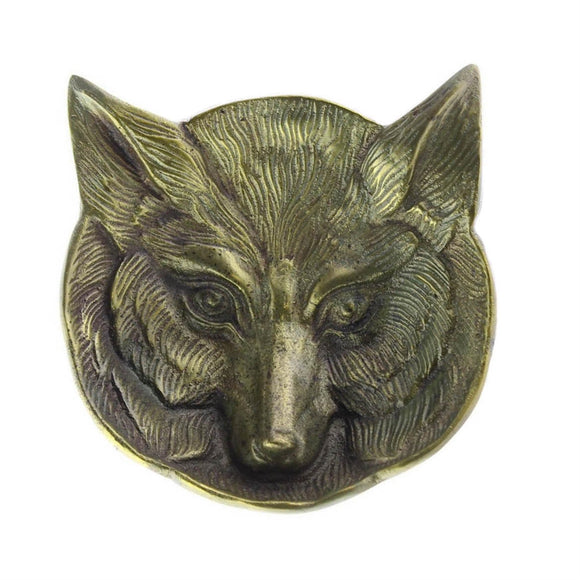8810-14 - Fox Cast Metal Dish - Antique Brass by HomArt