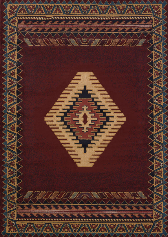 Manhattan - Tucson Burgundy Rug