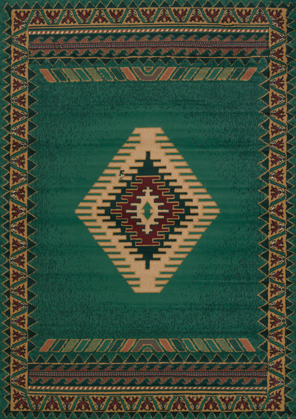 Manhattan - Tucson LT Green Rug