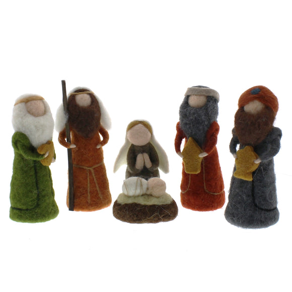 95040-0 - Felt Nativity - Set of 6 Figurines by HomArt