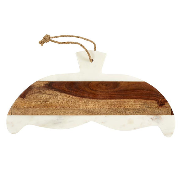 AMR526 - Whale Tail - Wood and Marble - Serving Tray by CBGifts