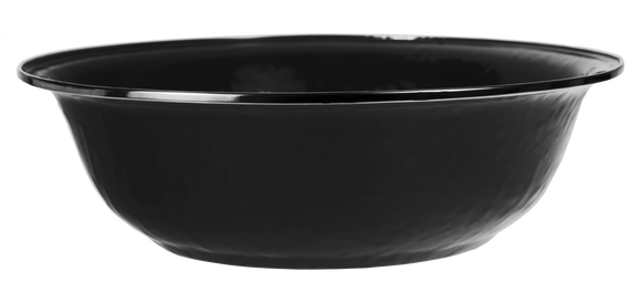 BK03 - Black on Black - 13.5 Inch Serving Basin by Golden Rabbit