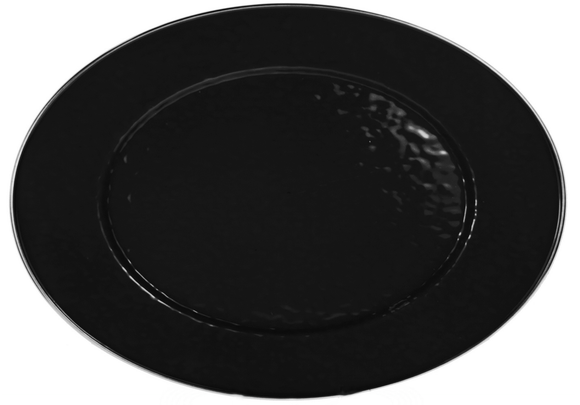 BK06 - Black on Black - 12 x 16 Oval Platter by Golden Rabbit