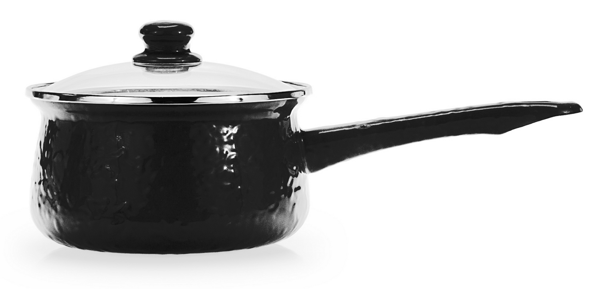 BK19 - Black on Black - 5 Cup Small Sauce Pan by Golden Rabbit