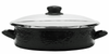 BK80 - Black on Black - Large 8 Quart Saute Pan by Golden Rabbit