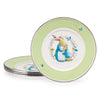 BPM11S4 - Enamelware Set of 4 Polka Dot Peter Child Plates by Golden Rabbit