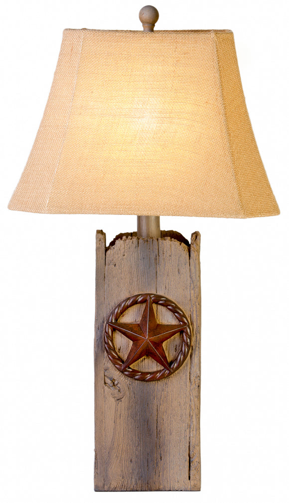 CL0905 -  RECLAIMED WOOD TABLE LAMP by Vintage Direct Lamps - ThunderHorseCabin.com