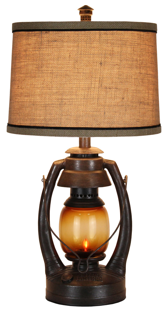 CL2400S - Rustic Vintage Lantern Table Lamp by Vintage Direct - ThunderHorseCabin.com
