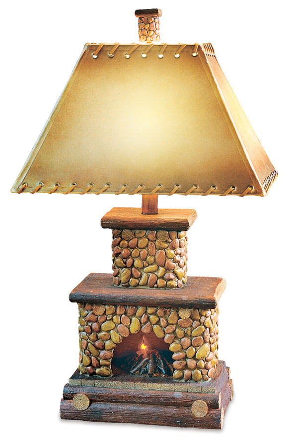 CL3403 -  STONE FIREPLACE TABLE LAMP by Vintage Direct Lamps - ThunderHorseCabin.com