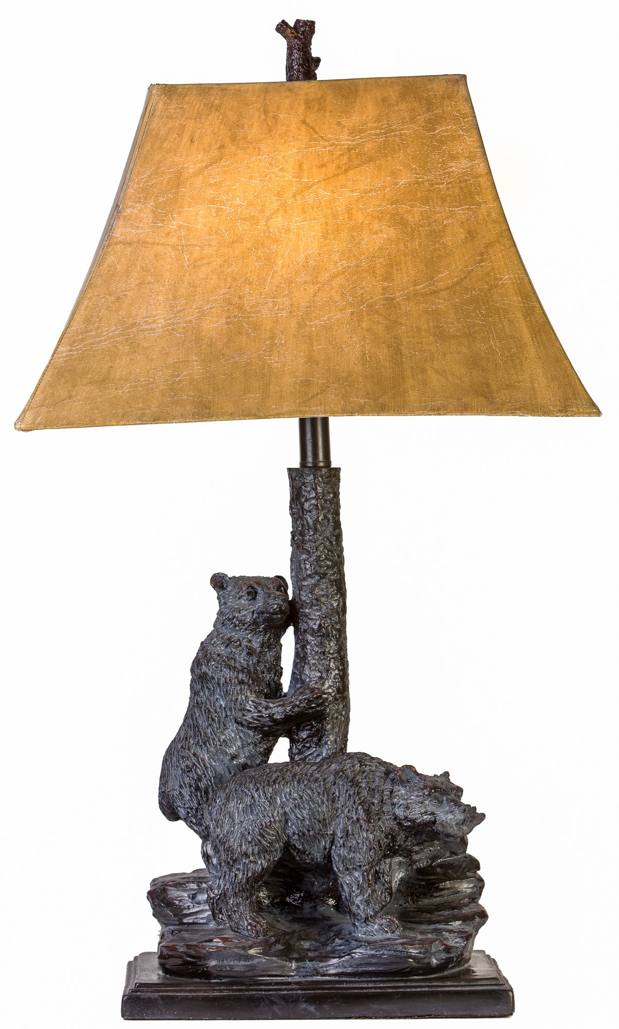 CL5010 - DOUBLE BEAR TABLE LAMP by Vintage Direct Lamps - ThunderHorseCabin.com