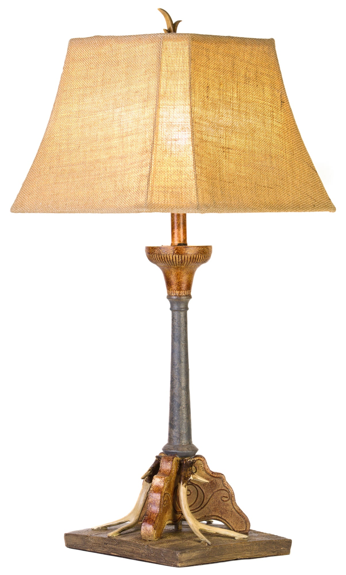 CL5050 - Antler Faux Metal Table Lamp by Vintage Direct - ThunderHorseCabin.com