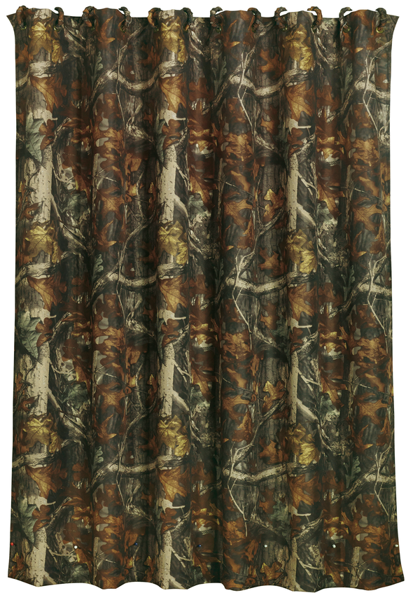 CM1001SC- Oak Camo Shower Curtain - Western Bedding by HiEnd Accents - ThunderHorseCabin.com