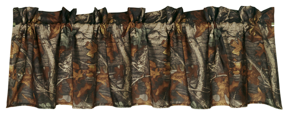CM1001VL- Oak Camo Valance - Western Bedding by HiEnd Accents - ThunderHorseCabin.com