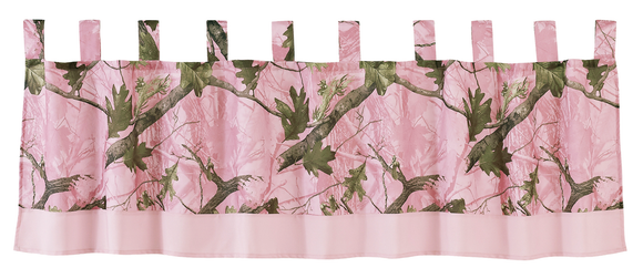 CM1002VL - Pink Camo Valance - Western Bedding by HiEnd Accents - ThunderHorseCabin.com