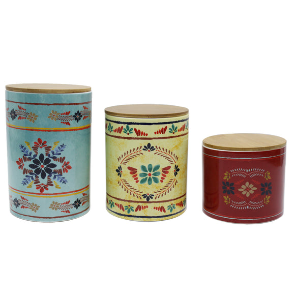 CS1937 - 3 Piece Canister Set- Bonita