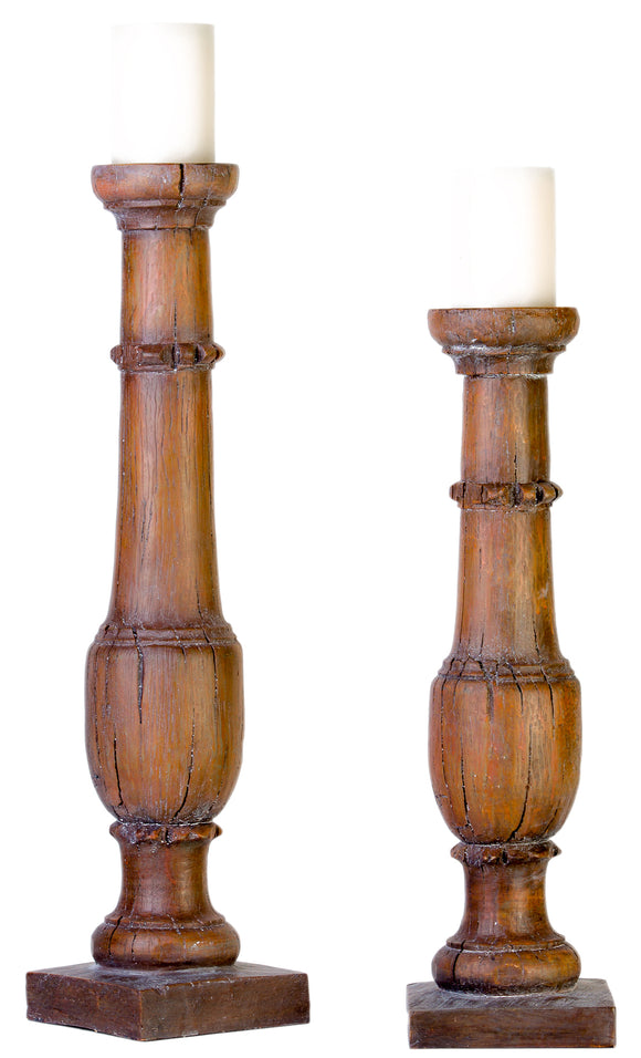 CS77530 - RUSTIC CANDLEHOLDERS by Vintage Direct Lamps - ThunderHorseCabin.com