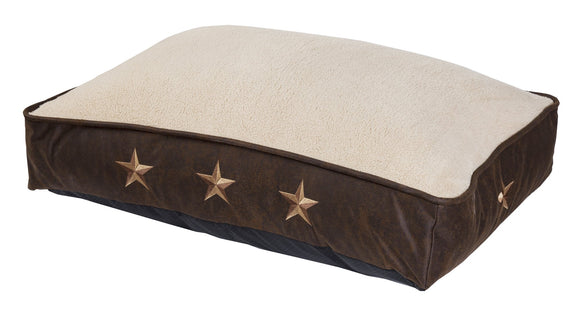 DB2010 - Embroidered Star Pet Bed - Western Bedding by HiEnd Accents - ThunderHorseCabin.com