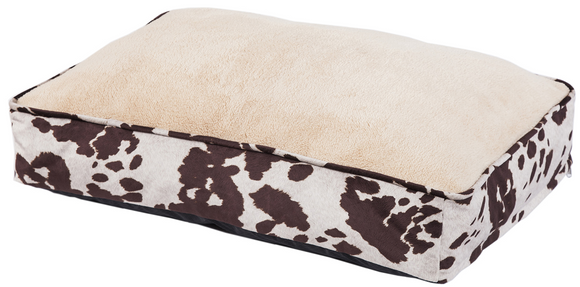 DB3067 - Faux Cowhide Pet Bed - Western Bedding by HiEnd Accents - ThunderHorseCabin.com