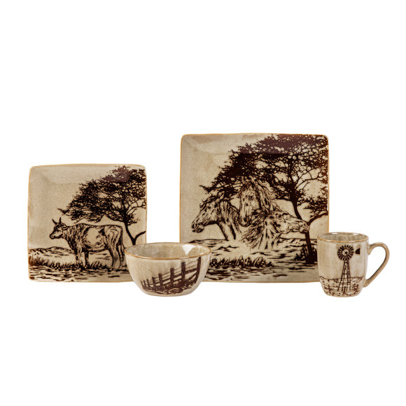 DI1761 - 16 PC Jasper Dinnerware Set by HiEnd Accents