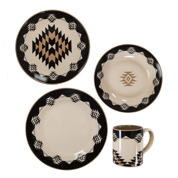 DI1779 - Chalet 16PC Ceramic Dinnerware Set by HiEnd Accents