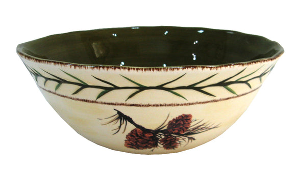 DI1800SB01 - Pine Cone Serving Bowl - 1 PC by HiEnd Accents