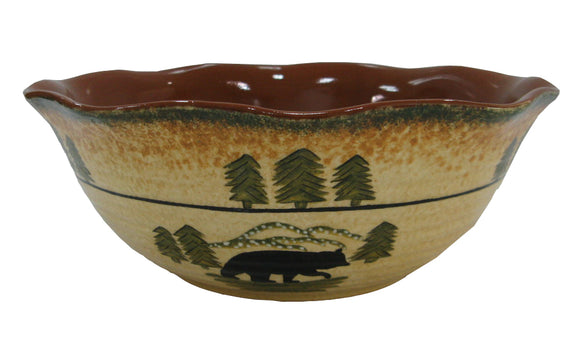 DI1810SB01 - Bear Serving Bowl by HiEnd Accents