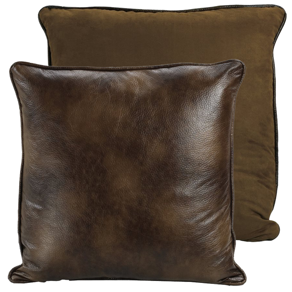 ES1005 - Suede Leather Euro Sham - Western Bedding by HiEnd Accents - ThunderHorseCabin.com