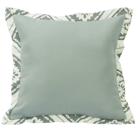 FB1611P1 - Textured Fabric Square Pillow - ThunderHorseCabin.com
