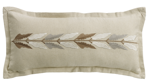 FB1611P2 - Embroidered Linen Pillow - ThunderHorseCabin.com