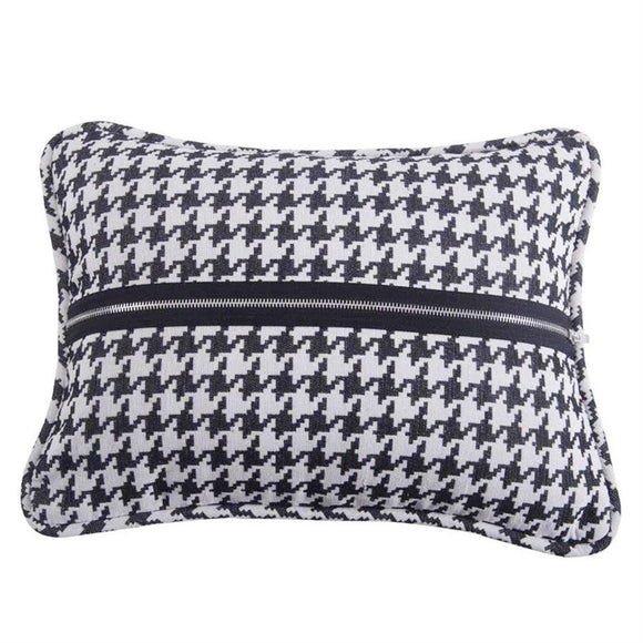 "FB1713P3 - Houndstooth Zippered Decorative Pillow - 13""x17""  by HiEnd Accents"