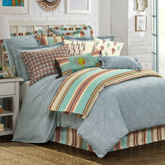 FB1751 - Chambray Bedding Set - Lodge Bedding by HiEnd Accents