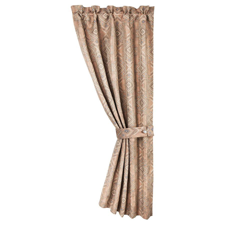 "FB1811C - Pale Sienna Geometric Curtain - 48""x 84"" by HiEnd Accents"