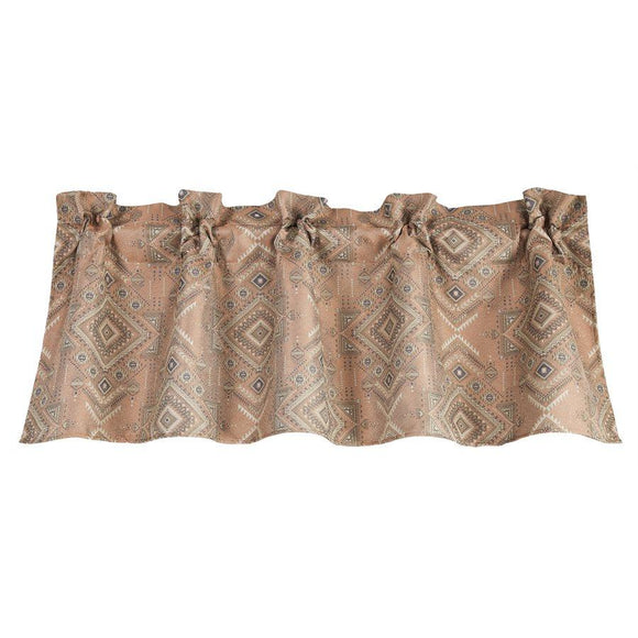 "FB1811VL - Pale Sienna Geometric Valance - 84""x 18""  by HiEnd Accents"