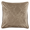 FB1828ES-OS-OM - Damask Velvet Euro (Oatmeal) - by HiEnd Accents - ThunderHorseCabin.com
