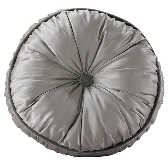 FB3840P4  Kerrington Buttoned Round Pillow - ThunderHorseCabin.com