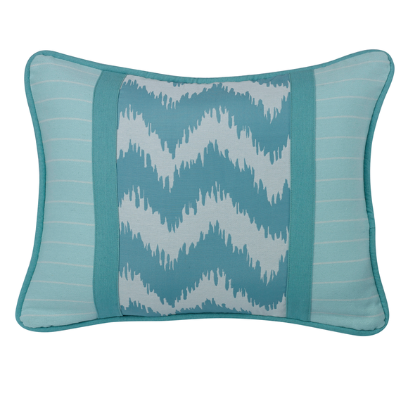 FB3930P3  Catalina Chevron and Stripes Pillow - ThunderHorseCabin.com