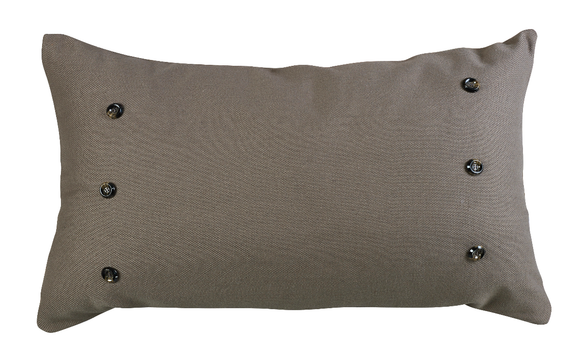 FB3950P4  Piedmont Large Taupe Grey Pillow - ThunderHorseCabin.com