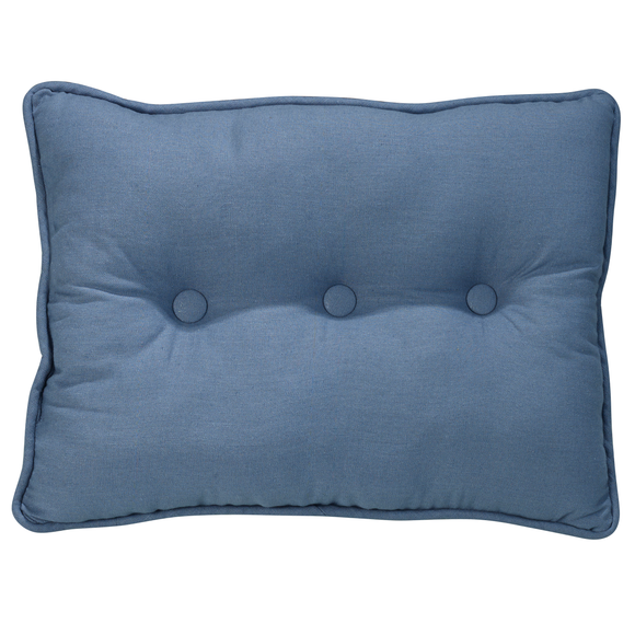 FB3970P3  Monterrey Solid Blue Tufted Pillow - ThunderHorseCabin.com