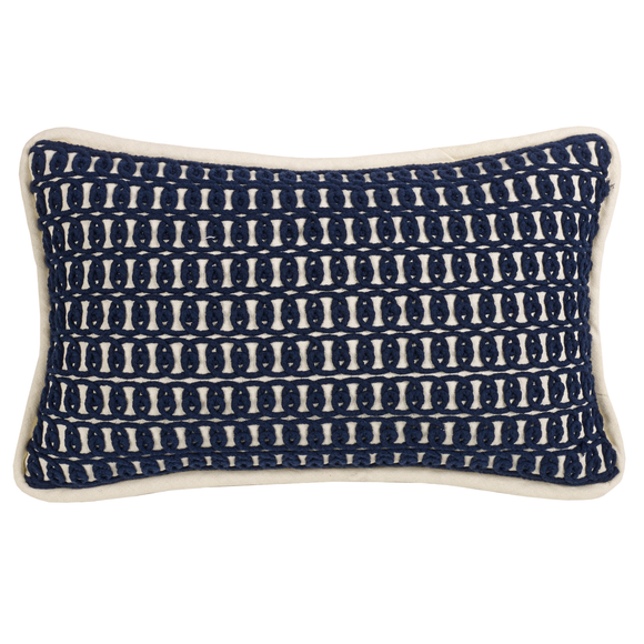 FB3970P5  Monterrey Rope Embroidery Pillow - ThunderHorseCabin.com